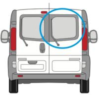 Nissan Primastar Offside Back Door Glass In Privacy Tint