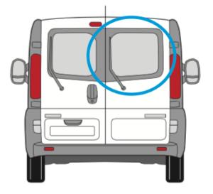 Vauxhall Vivaro Offside Back Door Glass In Privacy Tint
