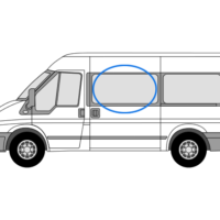 Ford Transit N/S/F Opening Window in Privacy Tint (LWB)