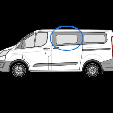 Ford Transit Custom N/S/F Fixed Window in Privacy Tint (SWB/LWB)