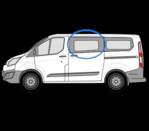 Ford Transit Custom N/S/F Opening Window in Privacy Tint (SWB/LWB)