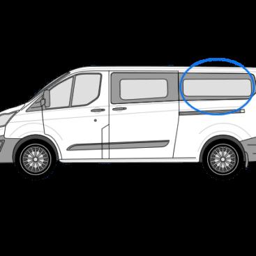 Ford Transit Custom N/S/R Fixed Window in Privacy Tint (LWB)