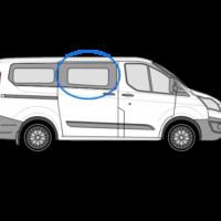 Ford Transit Custom O/S/F Fixed Window in Privacy Tint (SWB/LWB)