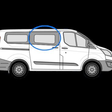 Ford Transit Custom O/S/F Opening Window in Privacy Tint (SWB/LWB)