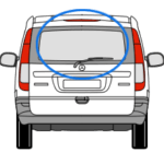 Mercedes Vito Tailgate Window in Privacy Tint 1