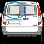 Mercedes Vito Nearside Twin Rear Door in Privacy Tint 1